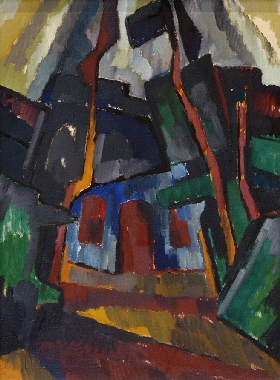 Karl Schmidt-Rottluff: ›House and Trees‹, 1912