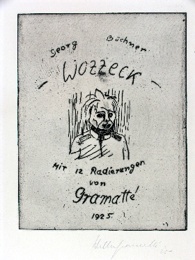 Walter Gramatté: ›Wozzeck‹, 1925Image Series of 12 Etchings on Georg Büchner's Drama ›Woyzeck‹